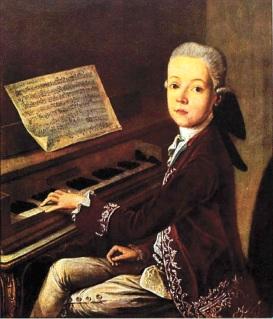 Retrat de Mozart amb 12 anys