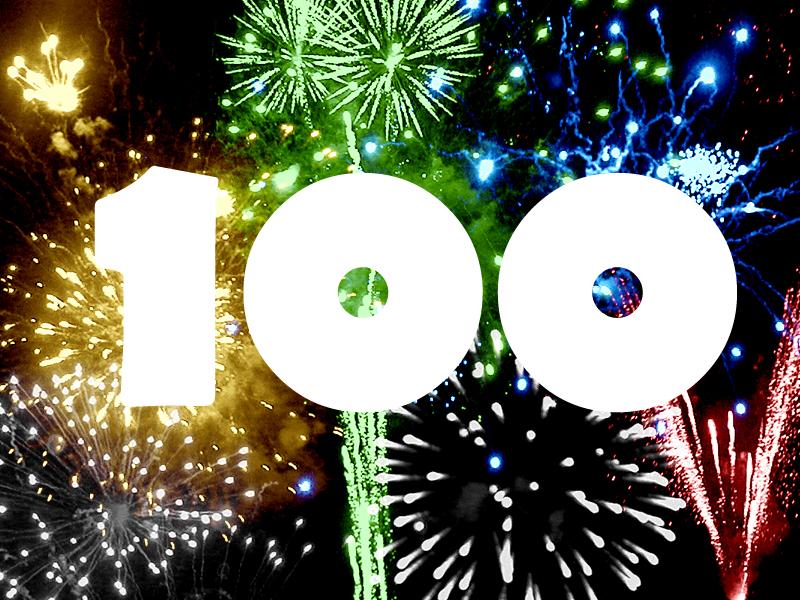 100-fireworks