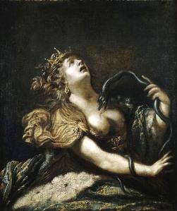 Claude_Vignon_-_Cléopâtre_se_donnant_la_mort