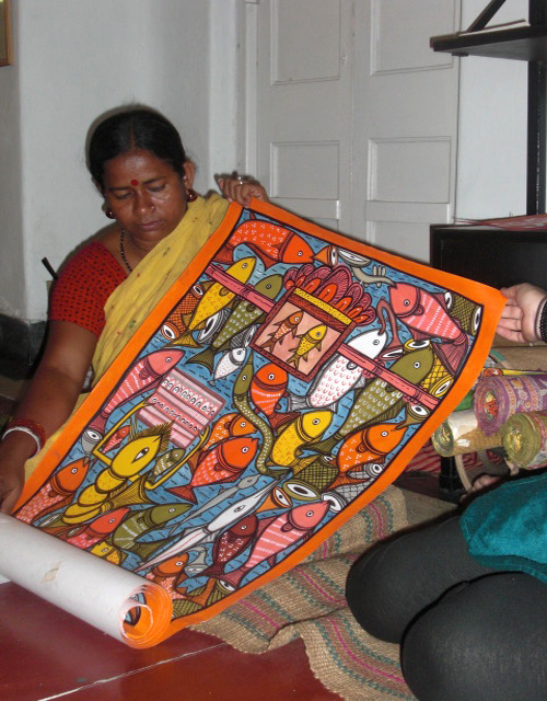 bengali scroll painting
