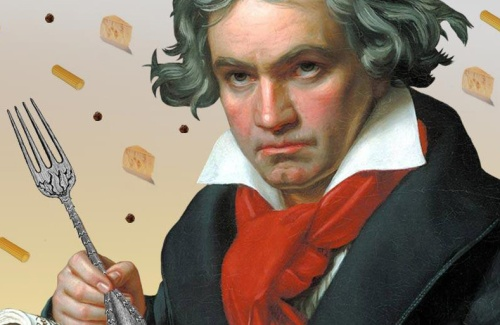 beethoven with fork