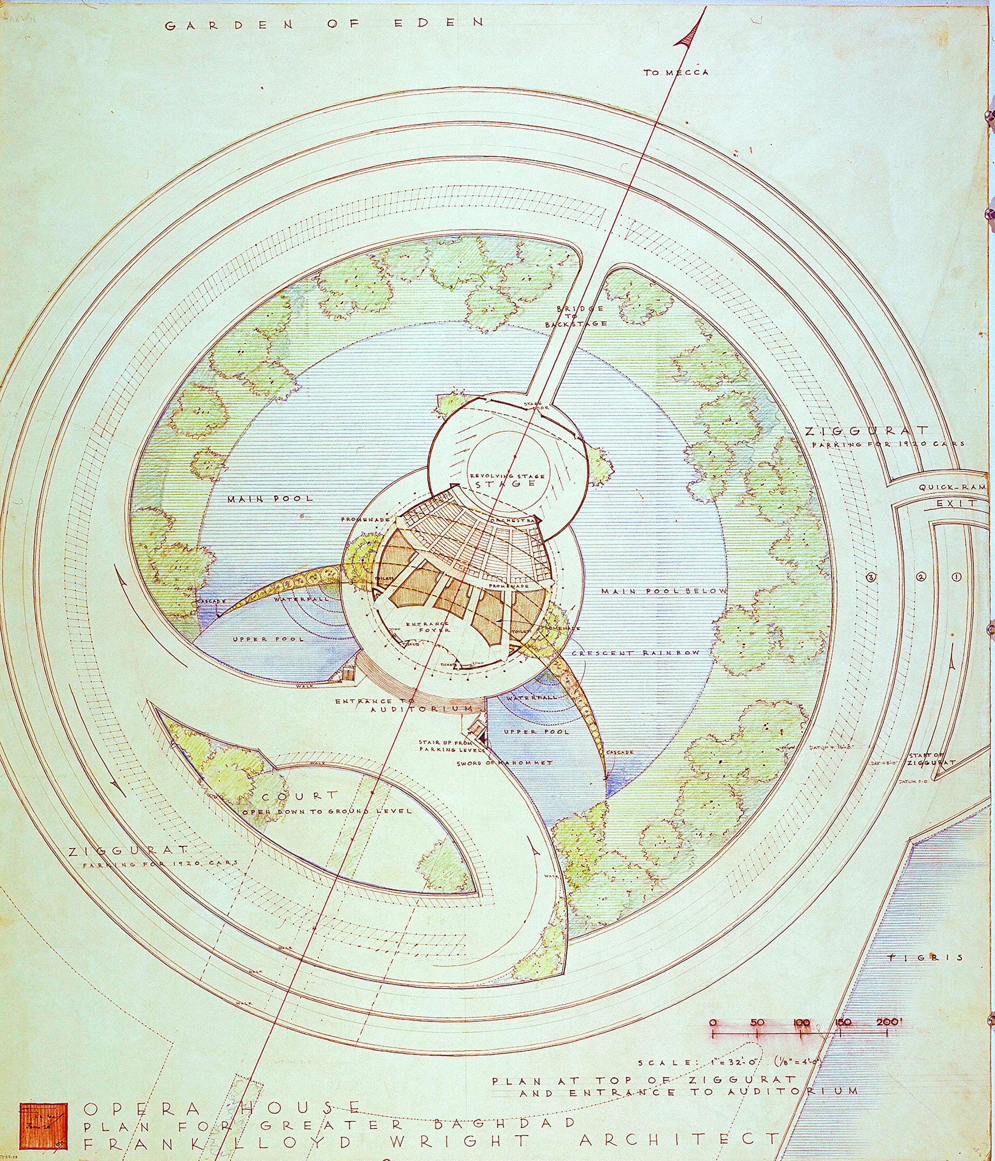 Architecture bibliolore for Frank lloyd wright plans